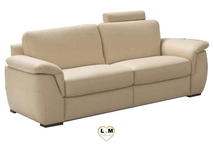 CHERIE RELAX SALON CUIR: Le Canapé 3 places - Longueur: 231 cm - Profondeur: 100 cm - Hauteur: 87 cm (A)
