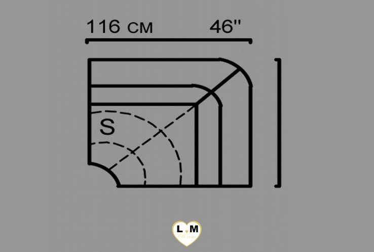 HERA ANGLE RELAX SALON CUIR: L' Angle 1 place - Longueur: 116 cm - Profondeur: 116 cm - Hauteur: 92 cm (S)