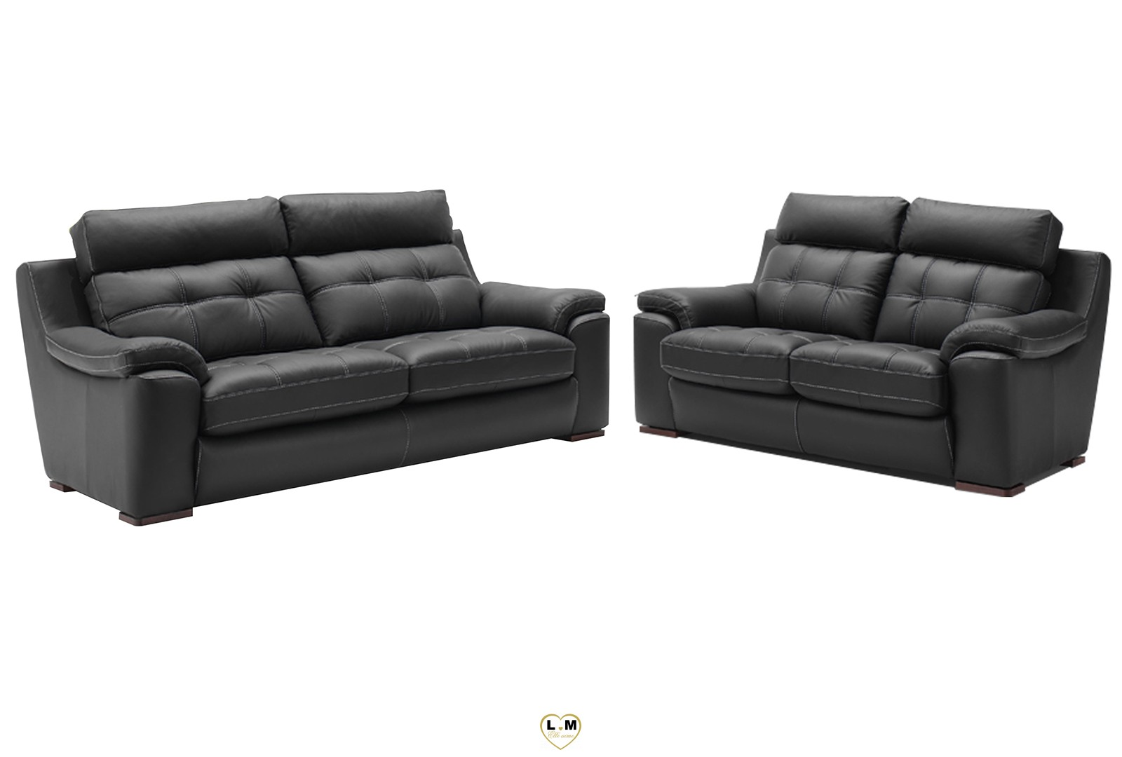 hera relax salon cuir l 39 ensemble canapes 3 2 places a b lignemeuble com. Black Bedroom Furniture Sets. Home Design Ideas