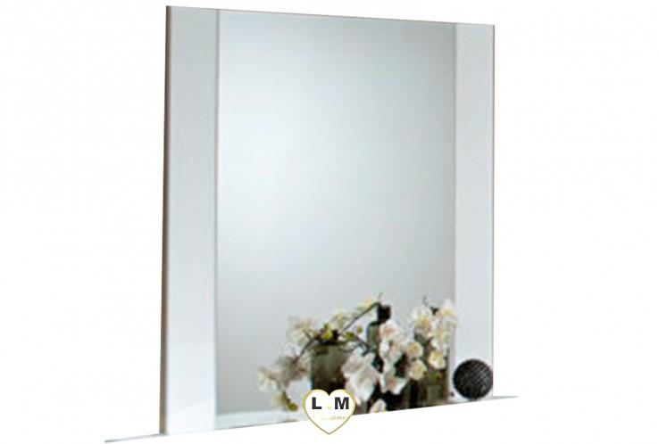 HILARY LAQUE BLANC CHAMBRE A COUCHER CONTEMPORAIN : Le Miroir