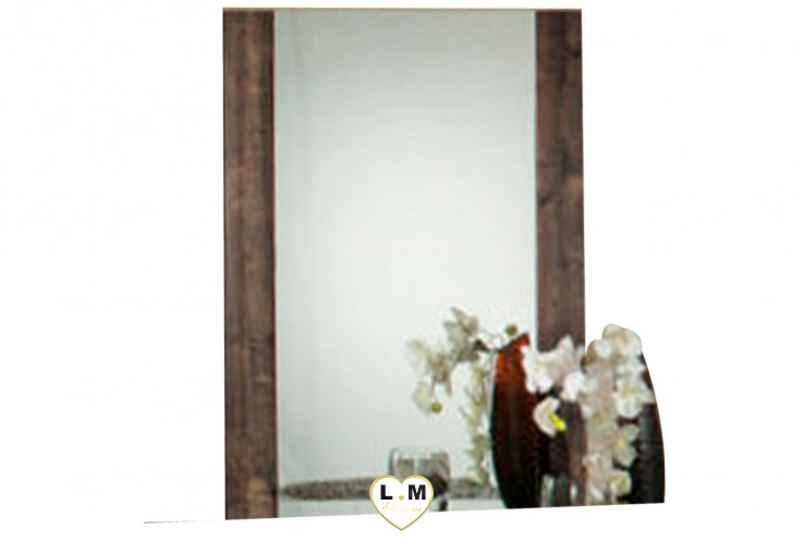 HILARY LAQUE MARRON NUAGÉ CHAMBRE A COUCHER CONTEMPORAIN : Le Miroir