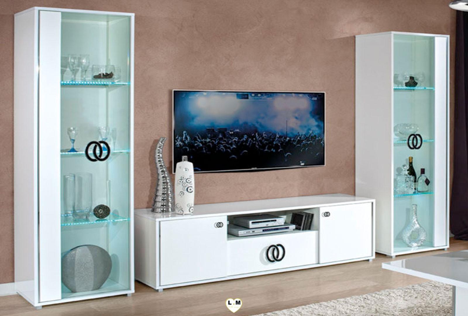 heaven laque blanc sejour salle a manger contemporain l. Black Bedroom Furniture Sets. Home Design Ideas