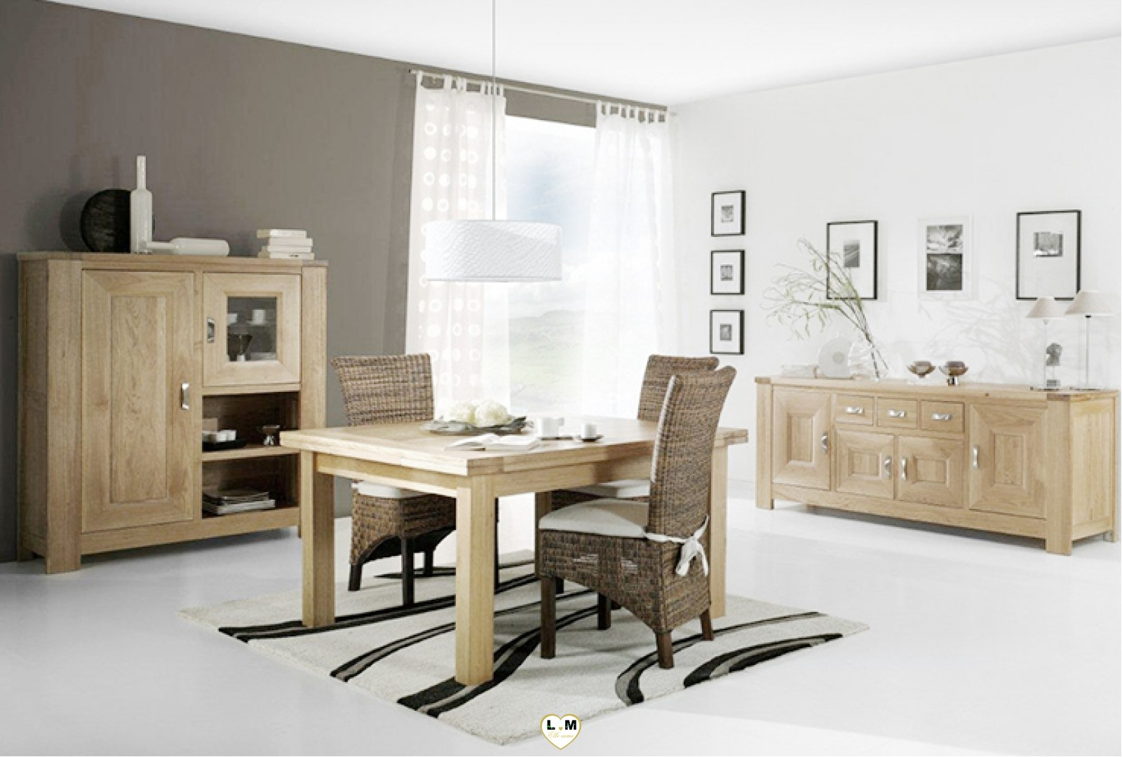 auber chene massif ensemble salle a manger lignemeuble com. Black Bedroom Furniture Sets. Home Design Ideas