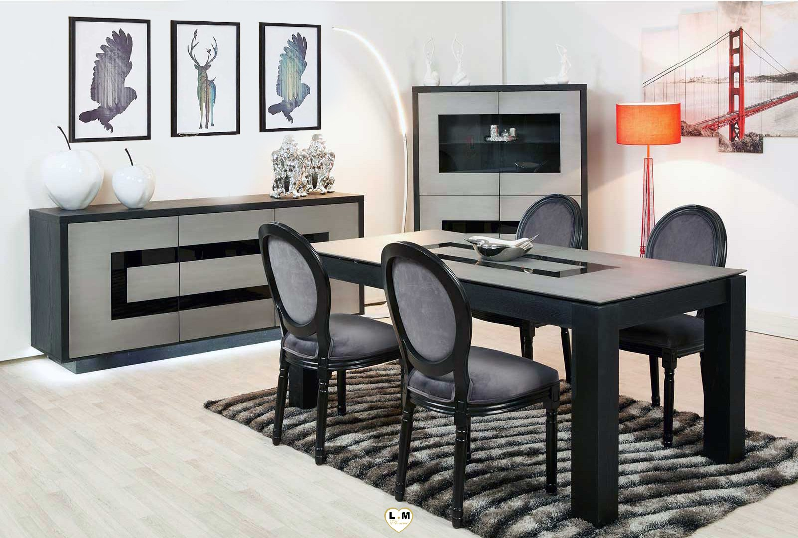 spitfire composition ensemble meuble sejour salle a manger. Black Bedroom Furniture Sets. Home Design Ideas