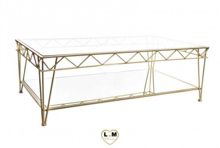 GATSBY TABLE BASSE MÉTAL DORÉ