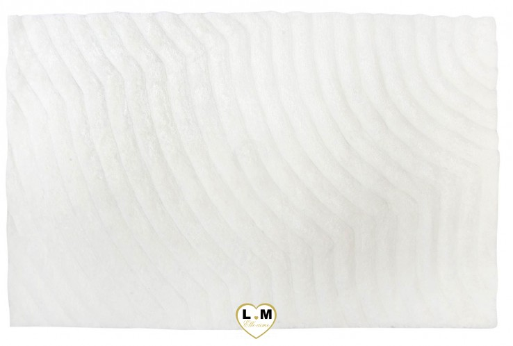 MARYLIN TAPIS BLANC MOTIF VAGUE
