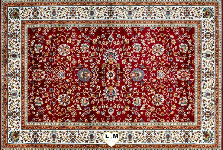 CLASSIC TAPIS POLYESTER ROUGE