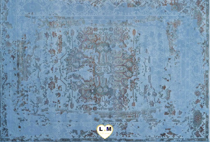 FASHION TAPIS ACRYLIQUE BLEU