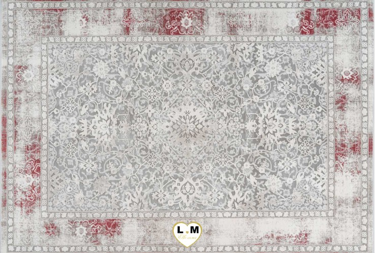 OPERA TAPIS POLYESTER ARGENT ROSE