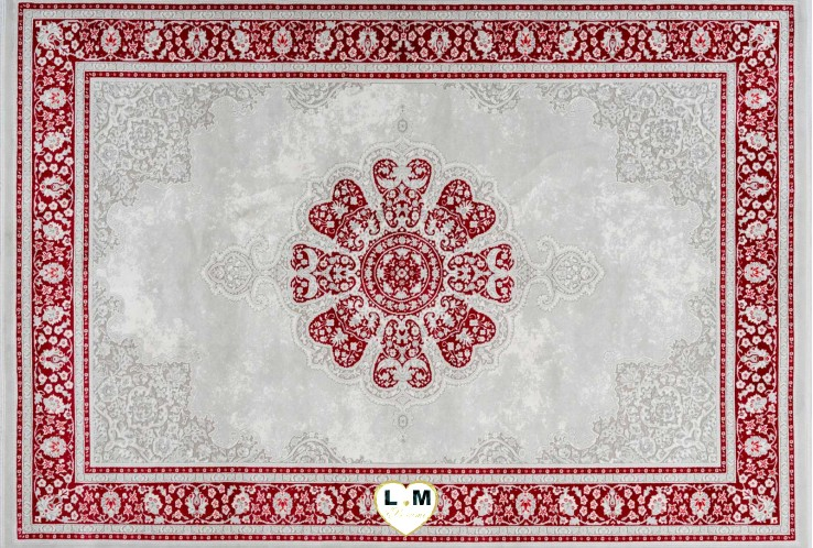 VILLETTE TAPIS ACRYLIQUE ROUGE