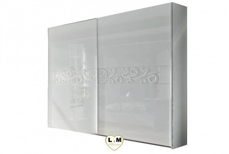 LIVY BLANC CHAMBRE À COUCHER DESIGN : L'Armoire 240 Hauteur 210
