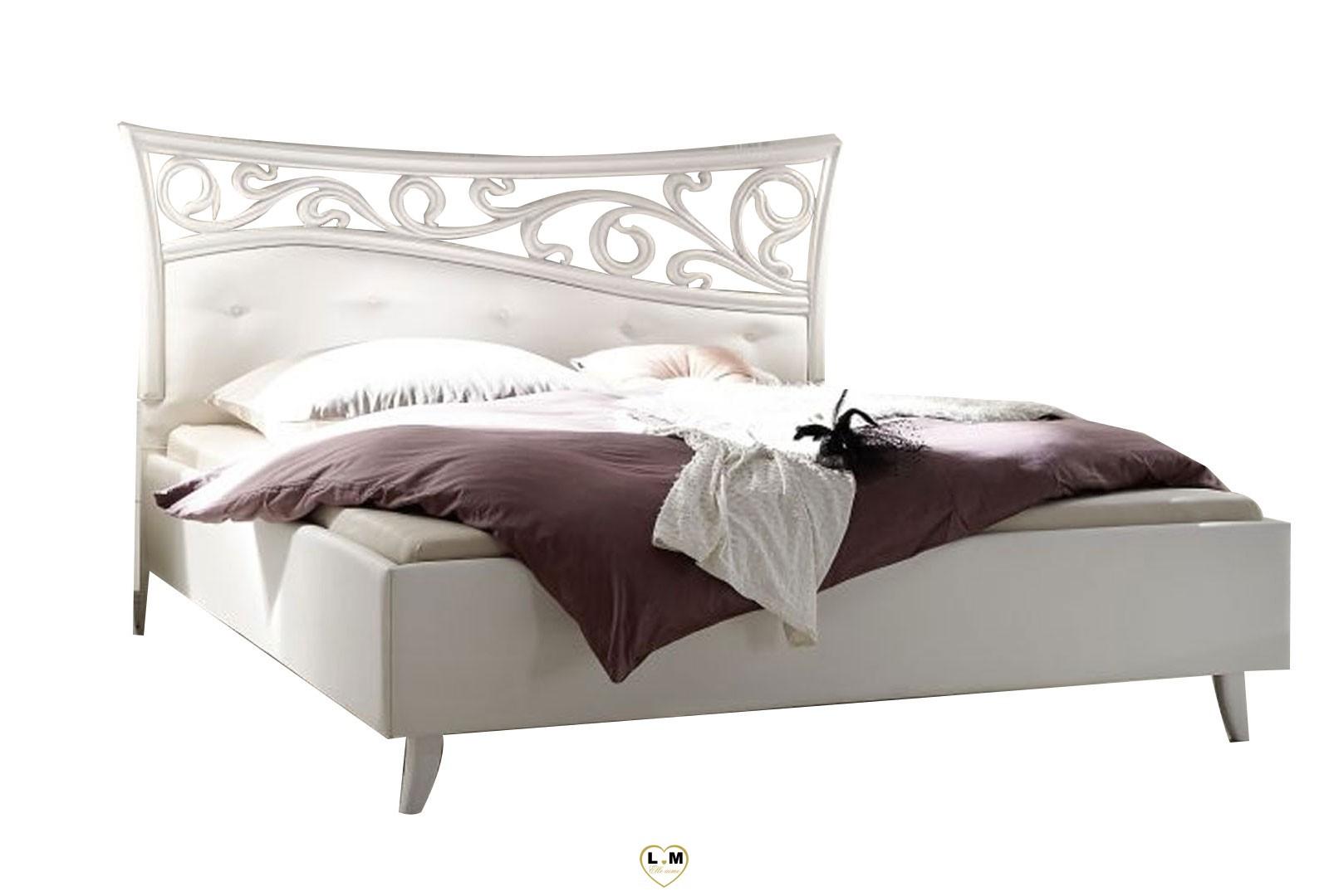 lenny blanc mat chambre a coucher design le lit 180. Black Bedroom Furniture Sets. Home Design Ideas