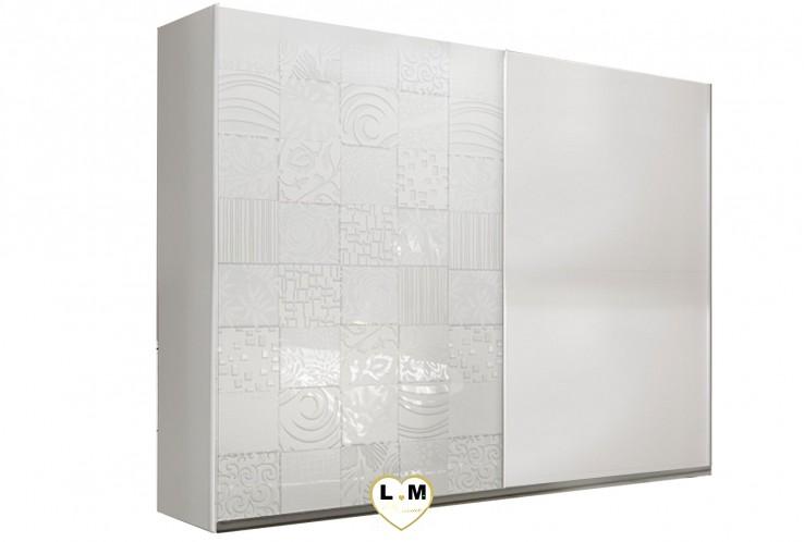 LOLY BLANC CHAMBRE À COUCHER DESIGN : L' Armoire 240
