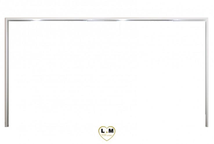 LOLY BLANC ET CHÊNE CHAMBRE À COUCHER DESIGN : L' Encadrement Armoire Éclairage LED