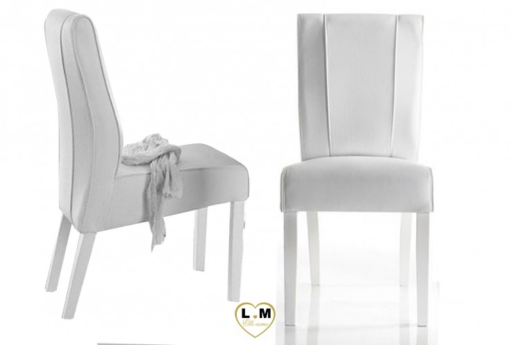 LOLY LAQUÉ BLANC SÉJOUR SALLE À MANGER DESIGN : La Chaise