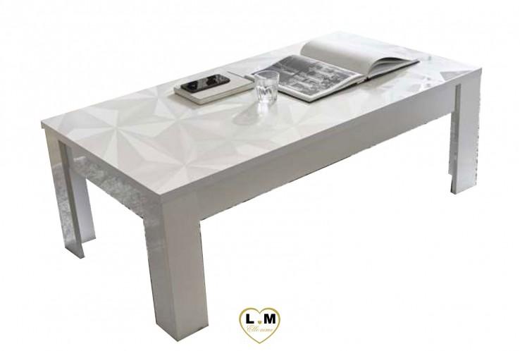 Lovely laque blanc sejour salle a manger design la table - Table salle a manger design blanc laque ...