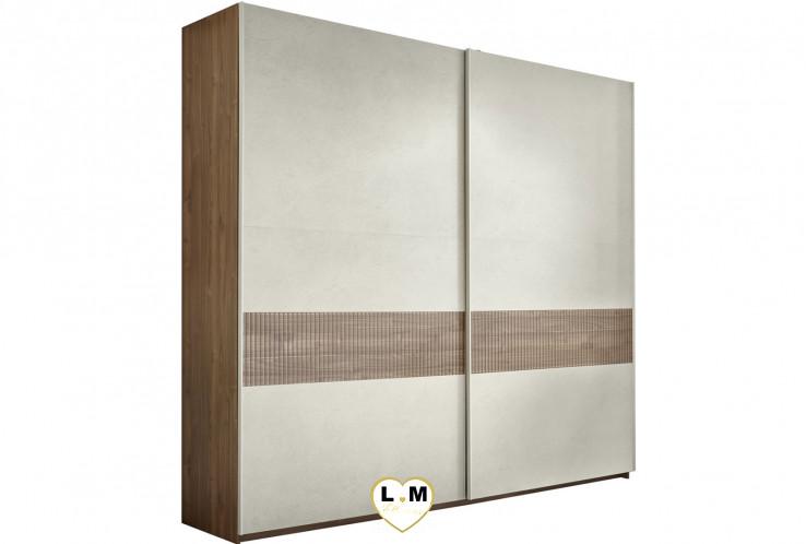 LORENE NOYER FONCE SERIGRAPHIE ET ARGILE ENSEMBLE CHAMBRE À COUCHER MODERNE  : L'armoire 275 X 218 cm