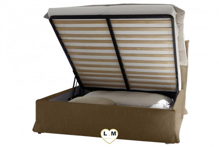 LORENE NOYER FONCE ET ARGILE  ENSEMBLE CHAMBRE À COUCHER MODERNE : Le lit coffre 160