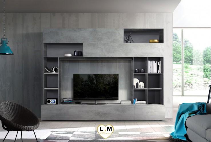LIATE  OXYDE ET BETON  ENSEMBLE COMPOSITION MEUBLE TV TENDANCE