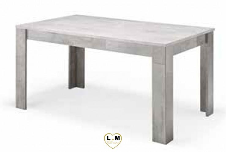 MARABELLO LAQUÉ TAUPE MARBRÉ SÉJOUR SALLE À MANGER MODERNE : La Table Repas 160