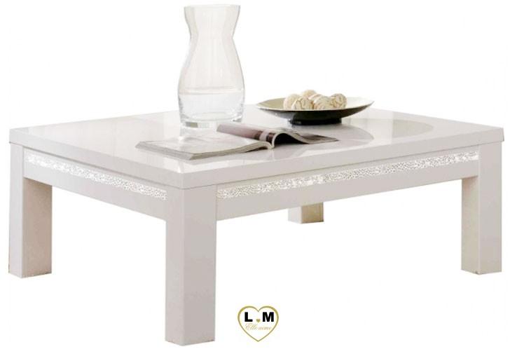 Miramare laque blanc sejour salle a manger design la - Table salle a manger design blanc laque ...