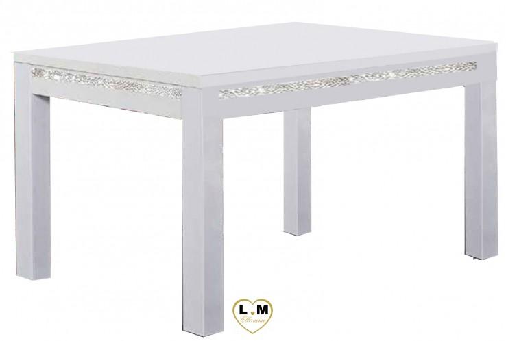 MIRAMARE LAQUE BLANC SÉJOUR SALLE À MANGER DESIGN : La Petite Table Repas