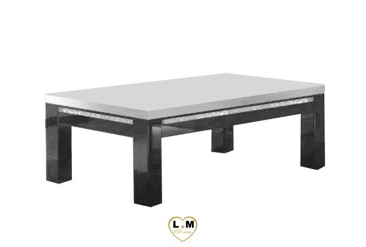MIRAMARE LAQUE NOIR ET BLANC SÉJOUR SALLE À MANGER DESIGN : La Table Basse