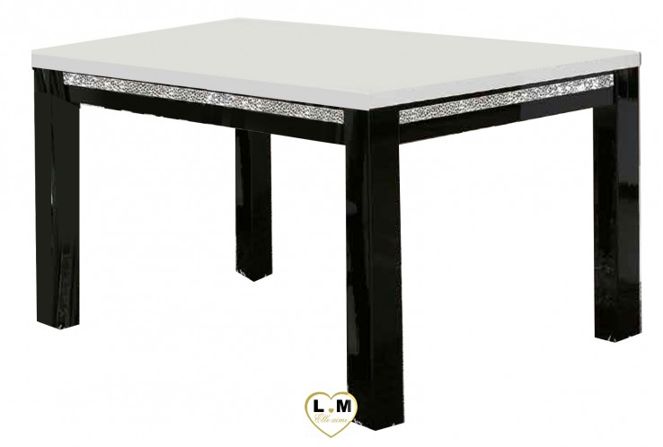 MIRAMARE LAQUE NOIR ET BLANC SÉJOUR SALLE À MANGER DESIGN : La Grande Table Repas