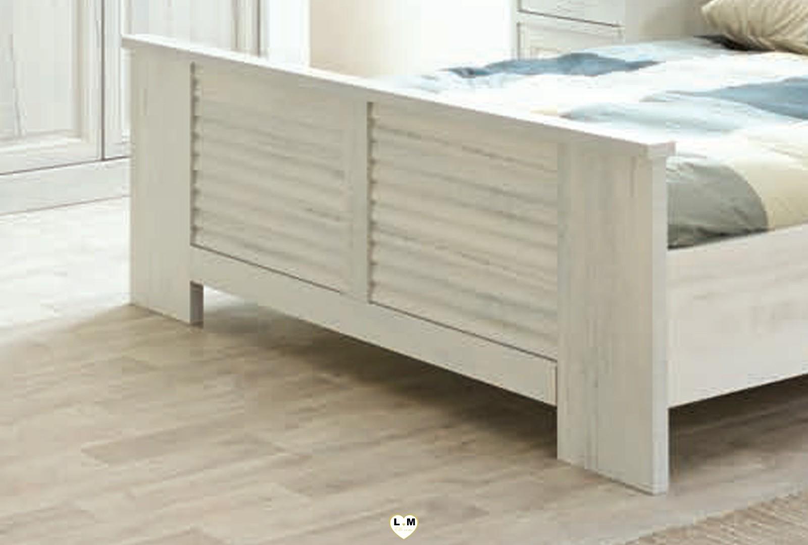 Merida bois blanc vieilli ensemble chambre a coucher votre site de meuble en ligne - Chambre bois blanc ...