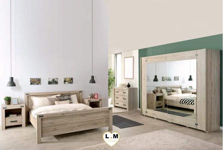 Chambre coucher en ch ne gris design de maison - Chambre a coucher grise ...
