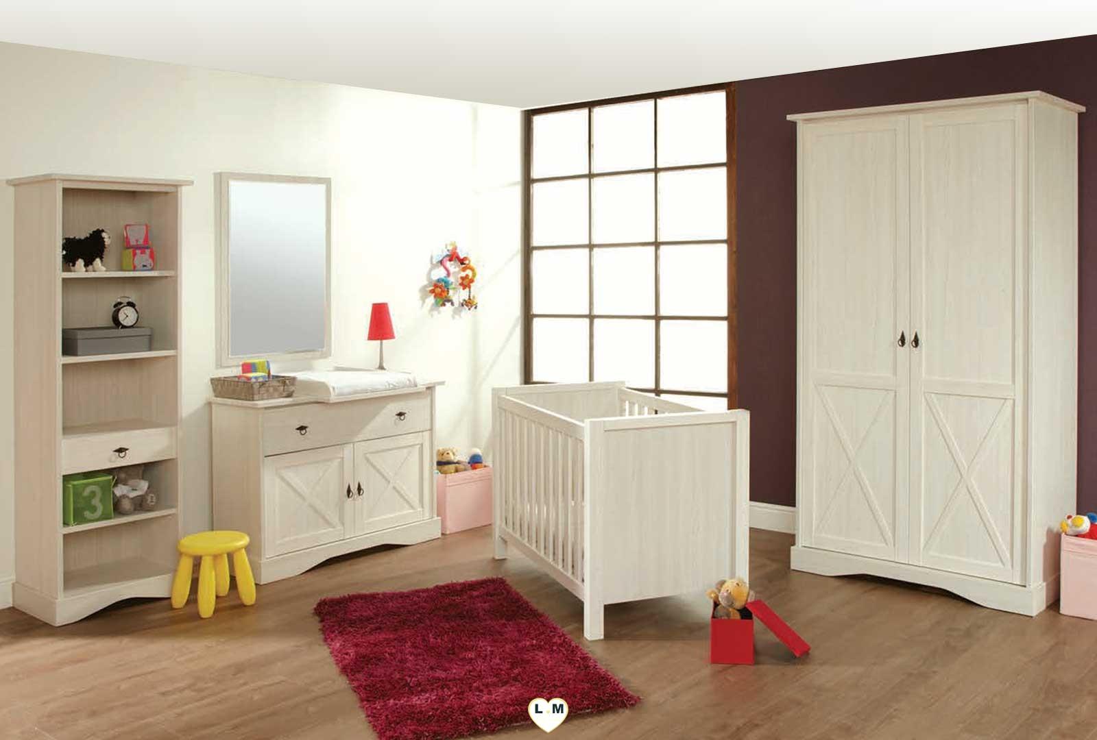 mary bois meleze blanc ensemble chambre bebe lignemeuble com. Black Bedroom Furniture Sets. Home Design Ideas