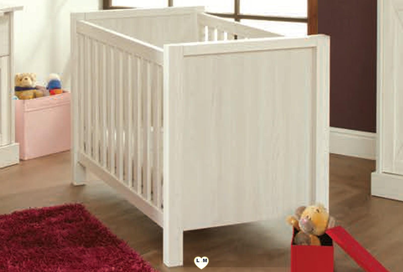 Mary bois meleze blanc ensemble chambre bebe lignemeuble com - Chambre bebe bois blanc ...