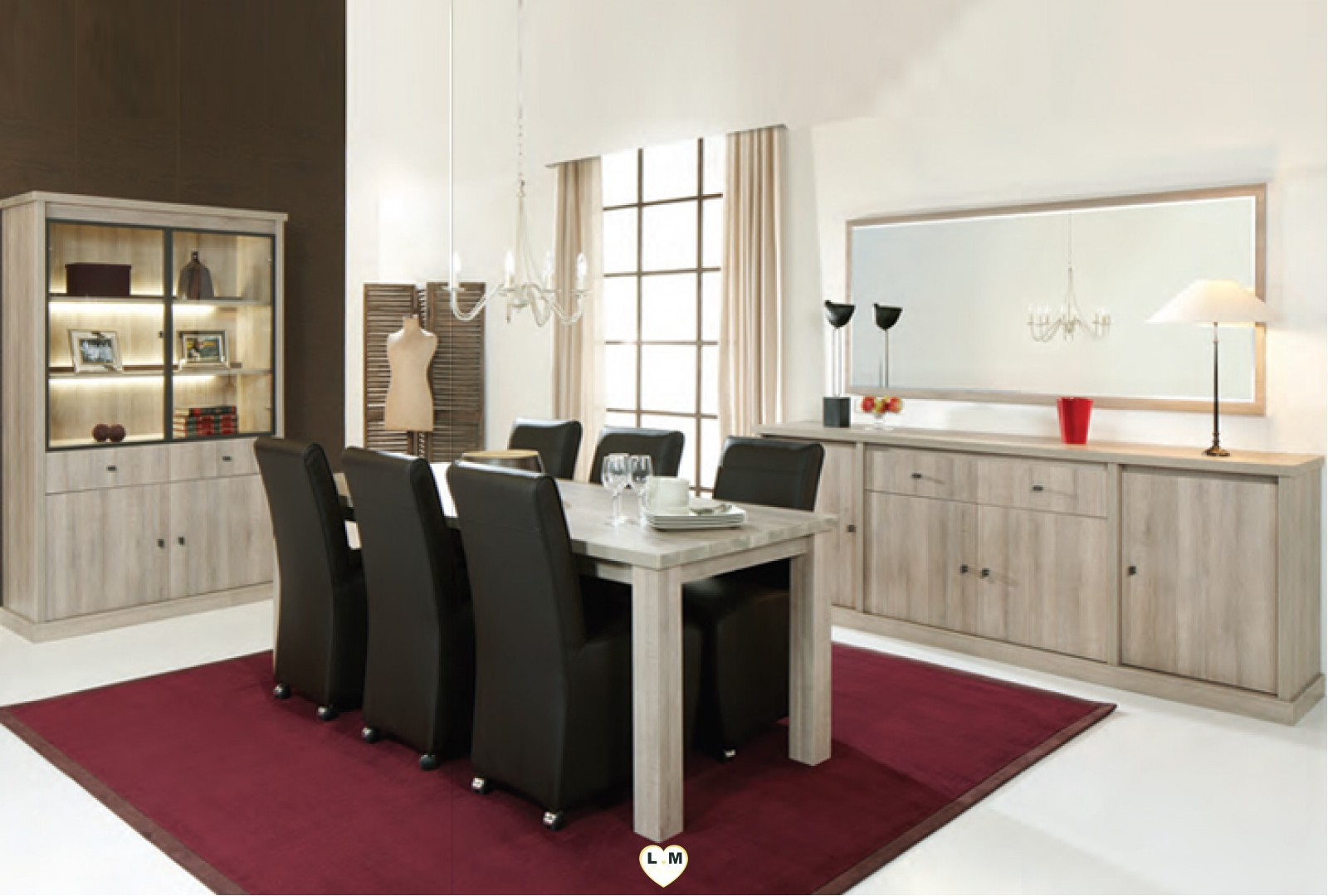oxford chene original ensemble salle a manger lignemeuble com. Black Bedroom Furniture Sets. Home Design Ideas