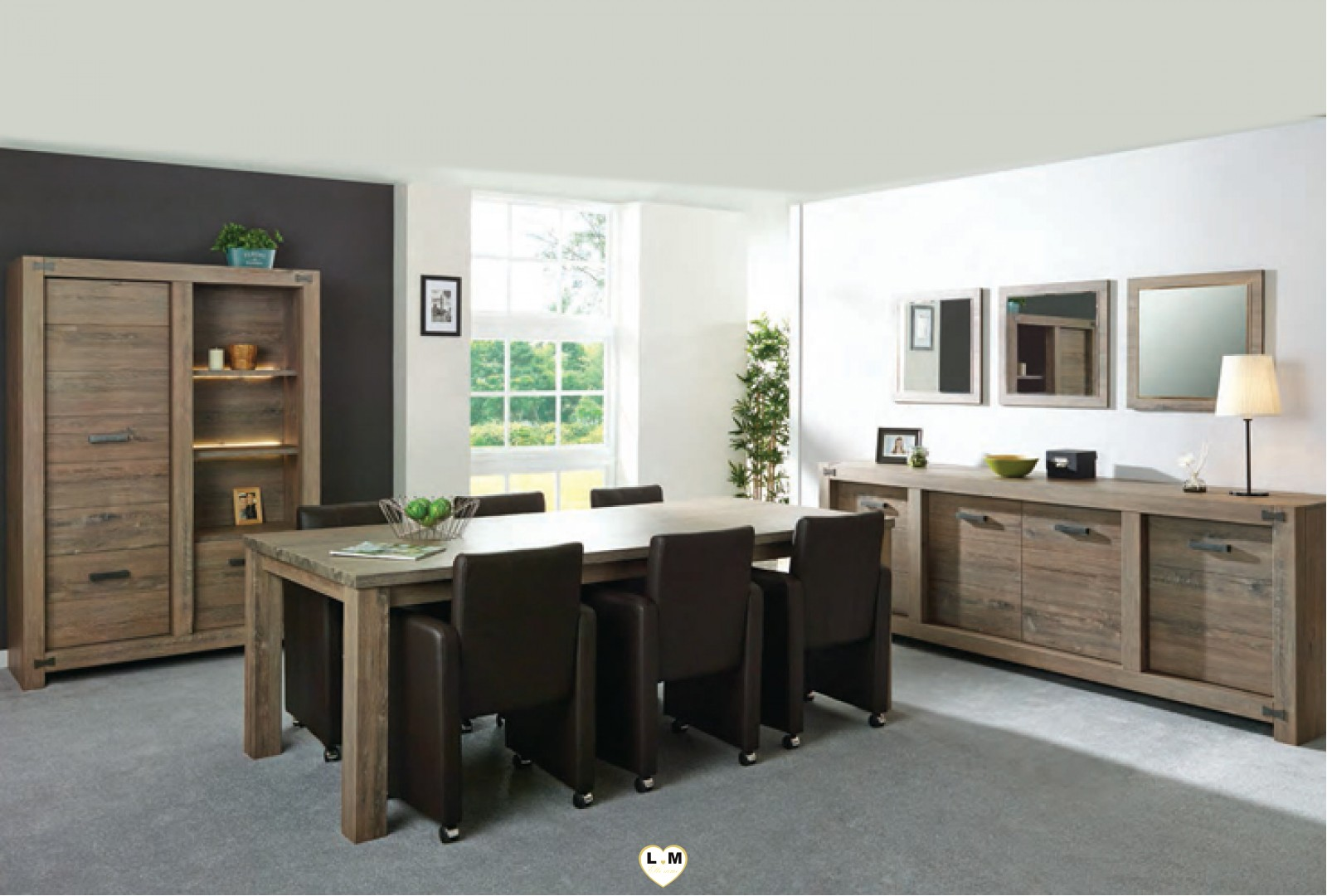 papillon chene brun ensemble salle a manger lignemeuble com. Black Bedroom Furniture Sets. Home Design Ideas