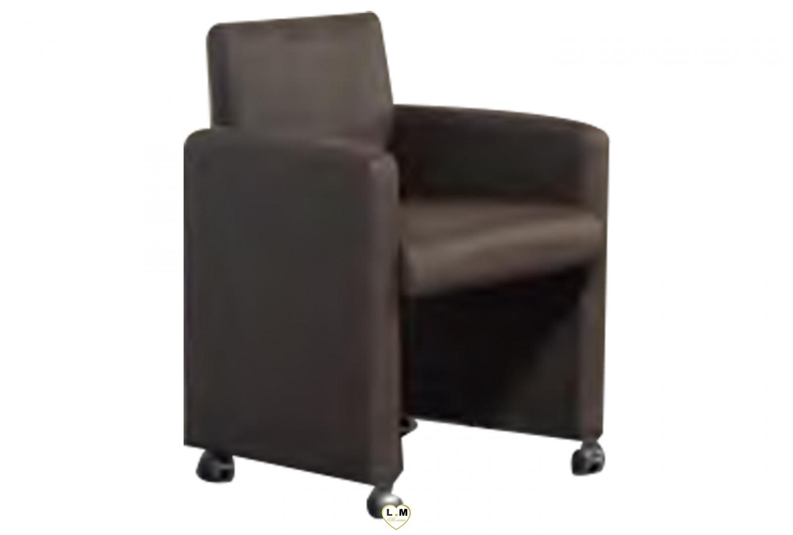 papillon chene brun fauteuil roulettes marron lignemeuble com. Black Bedroom Furniture Sets. Home Design Ideas