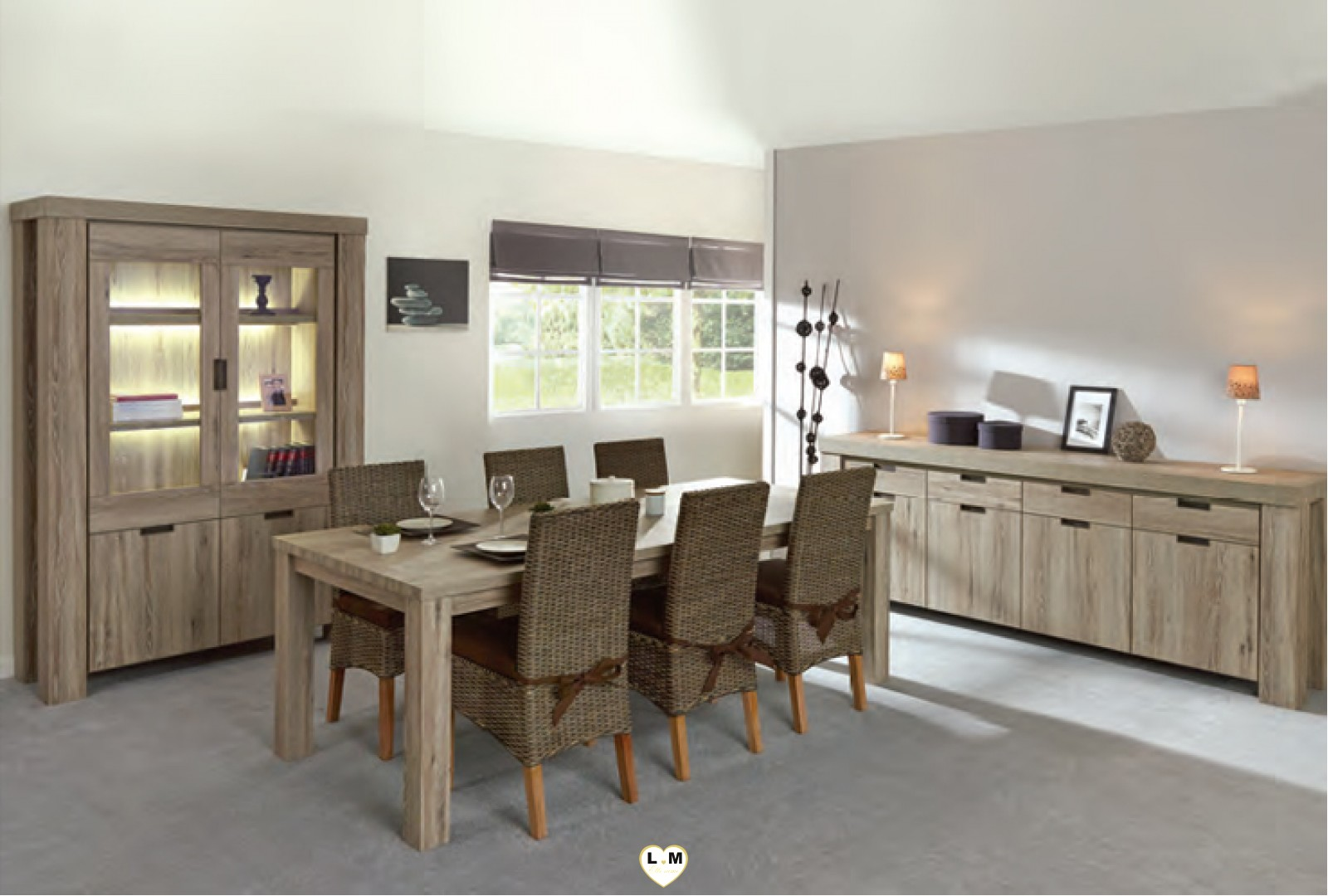 todi chene clair brun ensemble salle a manger lignemeuble com. Black Bedroom Furniture Sets. Home Design Ideas