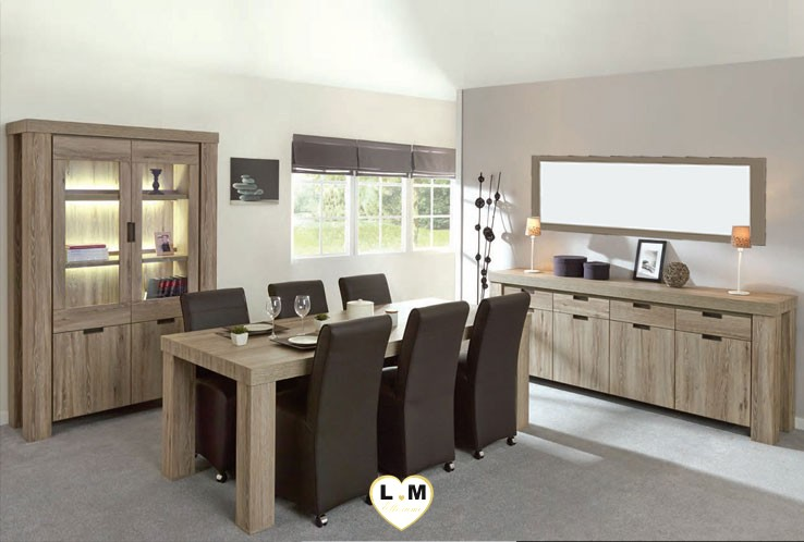todi chene clair brun ensemble salle a manger lignemeuble com. Black Bedroom Furniture Sets. Home Design Ideas