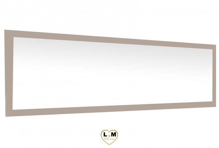 MALAGA CHENE GRIS CLAIR ET ALU SEJOUR SALLE À MANGER: LE GRAND MIROIR 210cm. L: 210 - P: 2 - H: 91cm.