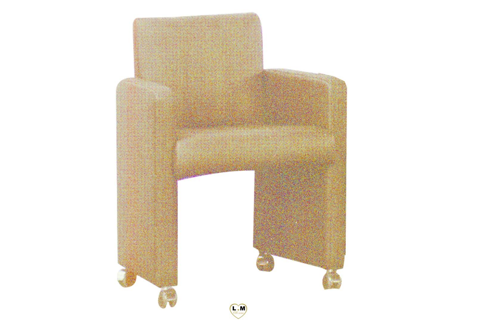 Mateo chaise accoudoir et roulette lignemeuble com for Chaise de salle a manger trackid sp 006