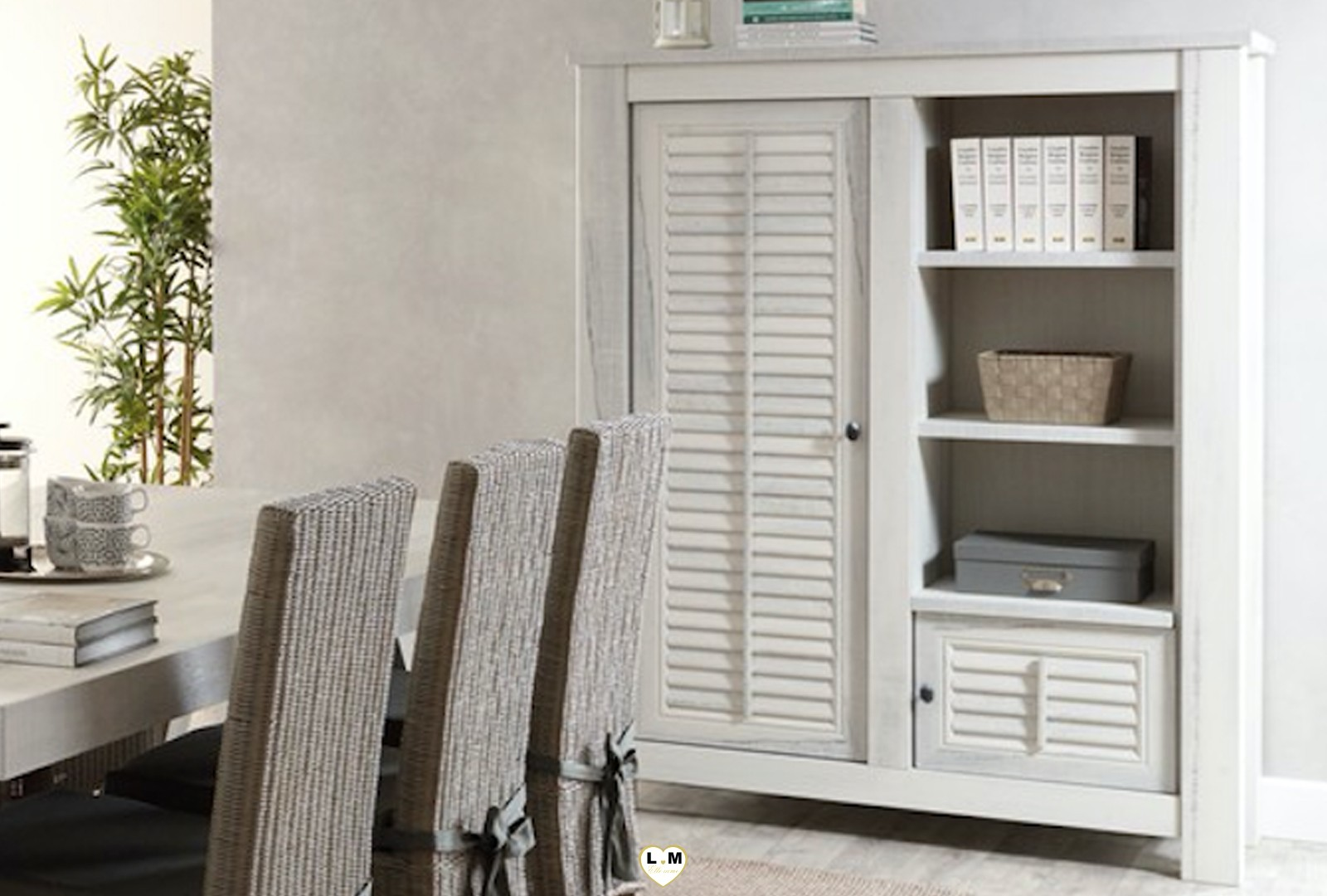 mabel bois blanc vieilli ensemble sejour salle a manger lignemeuble com. Black Bedroom Furniture Sets. Home Design Ideas