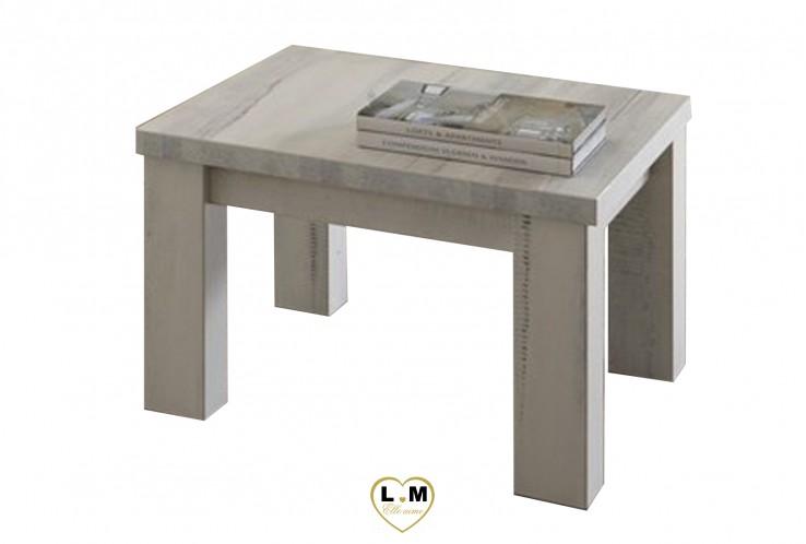MABEL BOIS BLANC VIEILLI SEJOUR SALLE À MANGER: LA TABLE BASSE CARRÉE. L: 68 - P: 68 - H: 44cm.