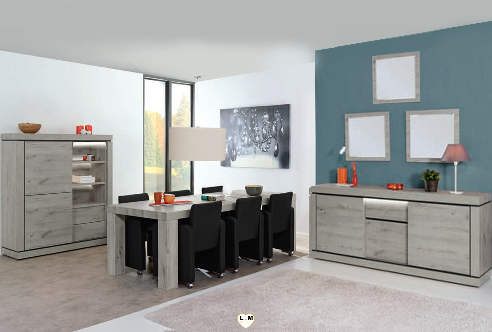 magaly chene excalibur ensemble sejour salle a manger lignemeuble com. Black Bedroom Furniture Sets. Home Design Ideas