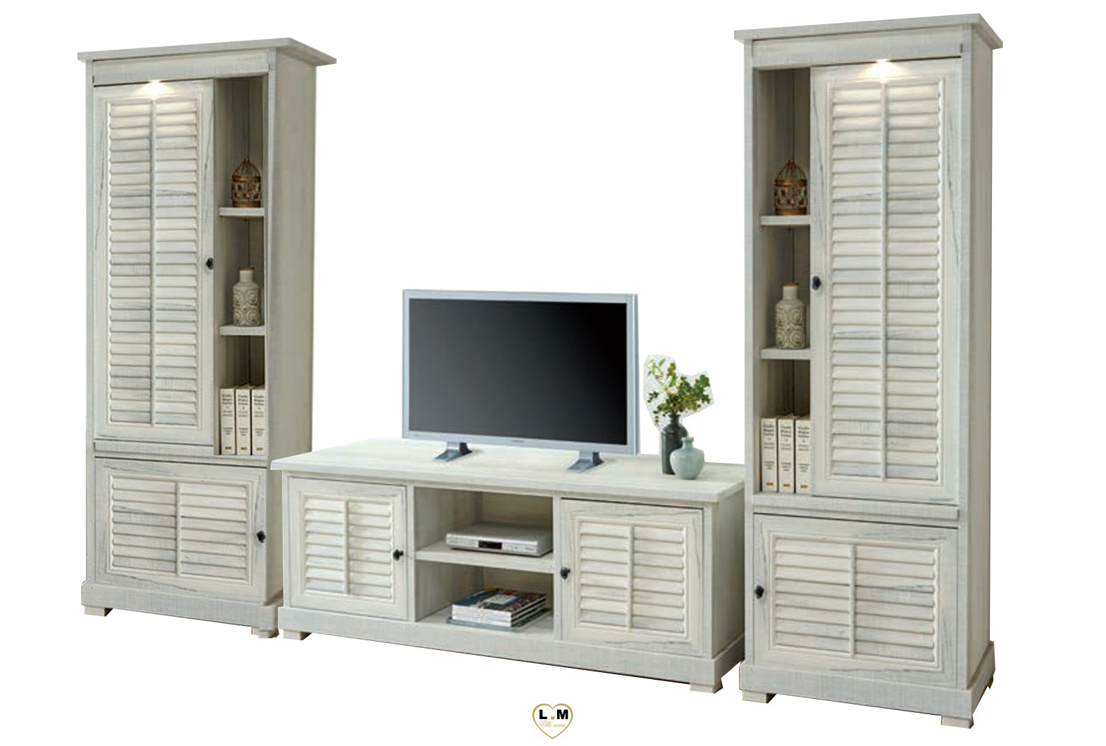 merida bois blanc vieilli sejour salle a manger la. Black Bedroom Furniture Sets. Home Design Ideas