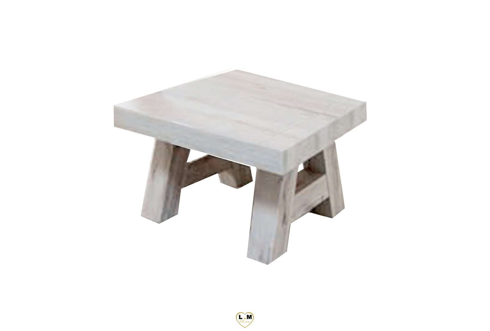 Emejing table salle a manger blanc vieilli pictures for Table basse blanc bois