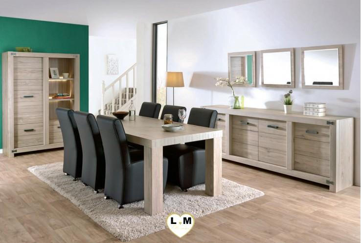 maybeline chene gris clair ensemble sejour salle a manger votre site de meuble en ligne. Black Bedroom Furniture Sets. Home Design Ideas