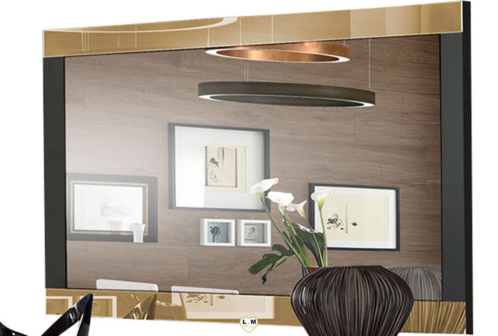 Miroir Salle De Sejour gala laque noir et dore sejour salle a manger design : le