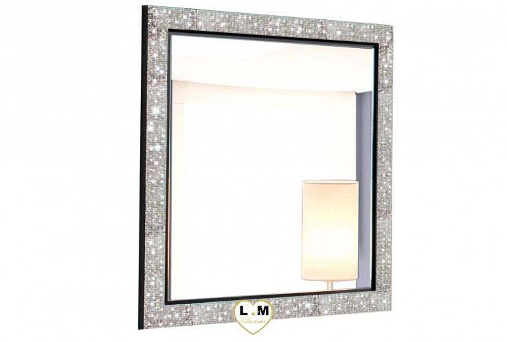 GLAMOUR LAQUÉ NOIR ET BLANC CHAMBRE À COUCHER DESIGN : Le Miroir