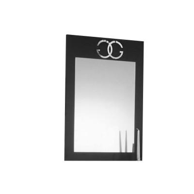 GOCCIA LAQUÉ NOIR ET ARGENT CHAMBRE À COUCHER DESIGN : Le Miroir