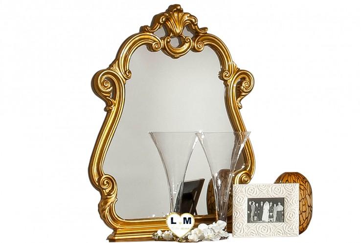 GUETTY LAQUÉ IVOIRE ET DORÉ CHAMBRE À COUCHER BAROQUE : Le Miroir