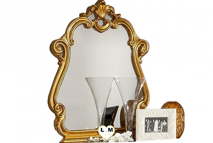GUETTY LAQUÉ NOIR ET DORÉ CHAMBRE À COUCHER BAROQUE : Le Miroir
